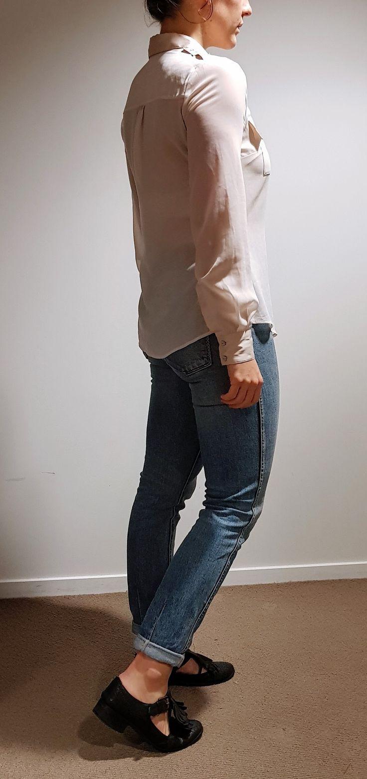Sheer & Shiny Shirt $40  Size 8 / 10