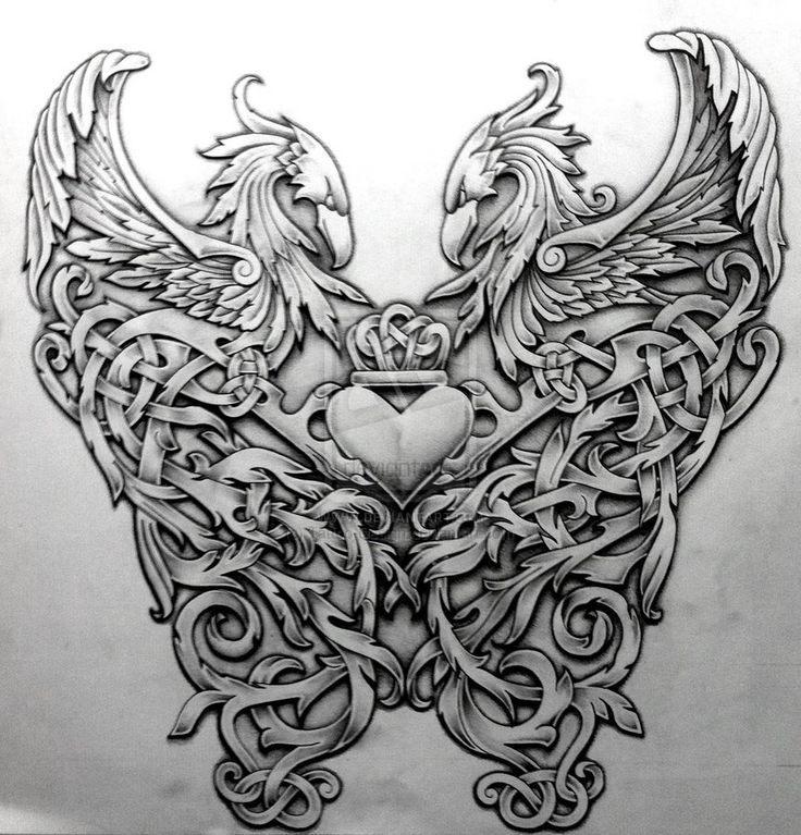 ✿ Tattoos ✿ Celtic ✿ Norse ✿ Celtic Phoenix by Tattoo-Design
