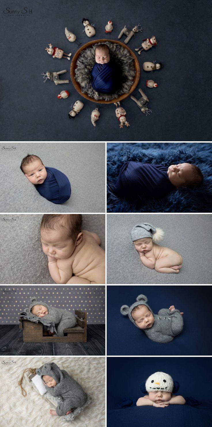 11 day old Brooks and his winter themed studio newborn photo shoot.  Sunny S-H Photography Winnipeg