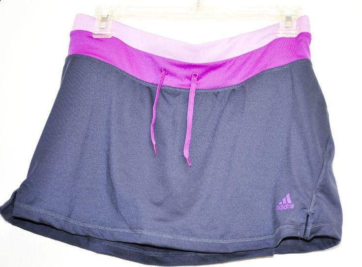 Adidas Women Tennis Skort Climalite Urban Sky Vivid Pink size M NWT #adidas