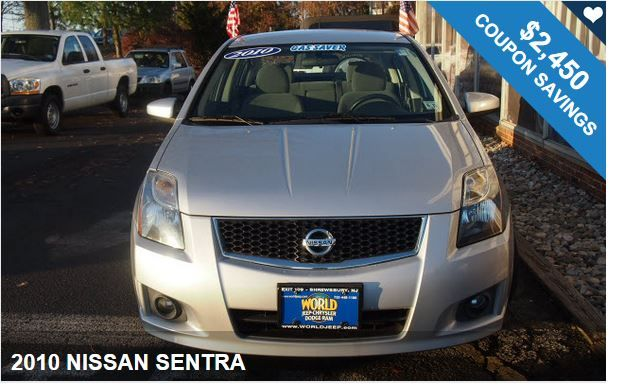 2010 NISSAN SENTRA / $2,450 IN COUPONS ! Start saving money now!!