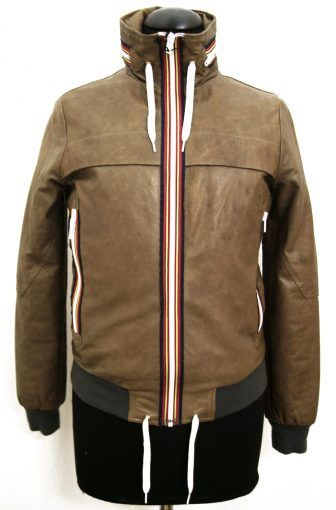 Original Vintage men's genuine leather jacket. Made in Italy. Brown