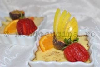 Flan de vanilie cu fructe (reteta dietetica)