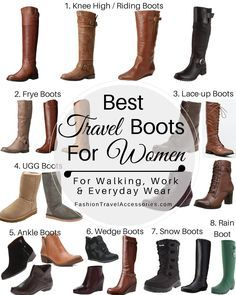 Best Travel Boots for Women to Wear this Fall, Winter & Spring - Perfect for Walking, Sightseeing, Touring, Work and Everyday Wear.  Comfortable, Chic, Fashionable & Stylish Boots