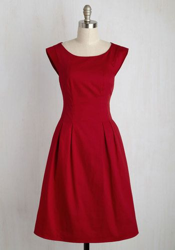 Take It To the Banquet A-Line Dress - Red, Solid, Work, A-line, Sleeveless, Summer, Woven, Better, Exposed zipper, Long