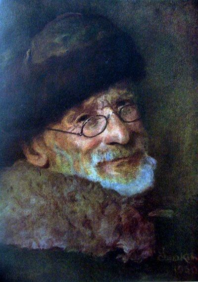 Ivan Sidorovich Izhakevich   18 januari 1864 - 19 januari 1962   (Oekraïne, 1864-1962) Zelfportret. 1930 Oekraïense schilder