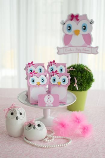 Hostess with the Mostess® - Cicilia's Pink Owl baby shower