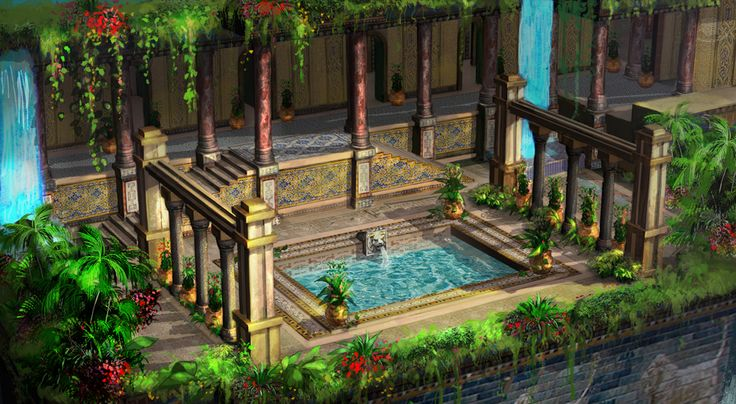 babylon's hanging garden for 3D modeler(EBS)/ 2~3day/PS cs5