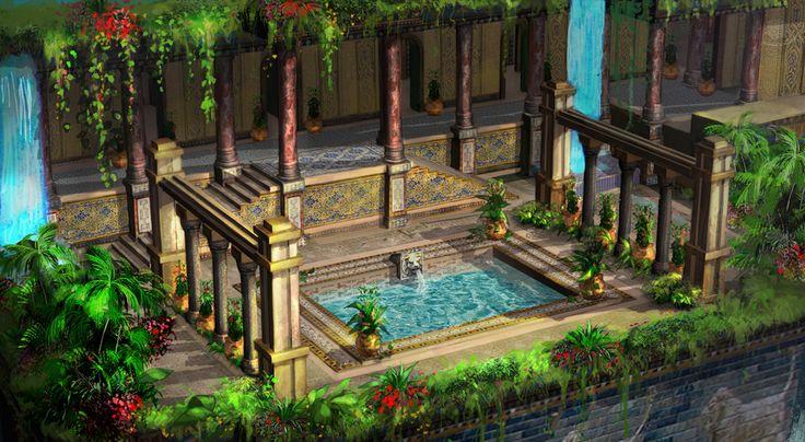 babylon's hanging garden for 3D modeler(EBS)/ 2~3day/PS cs5
