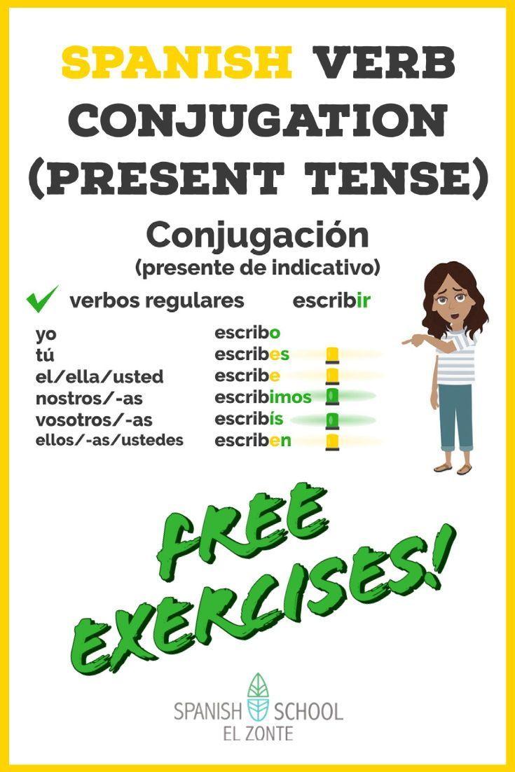 Spanish Verb Conjugation Present Tense Free Practice Spanish Verbs Spanish Verb Conjugation Verb Conjugation [ 1102 x 735 Pixel ]