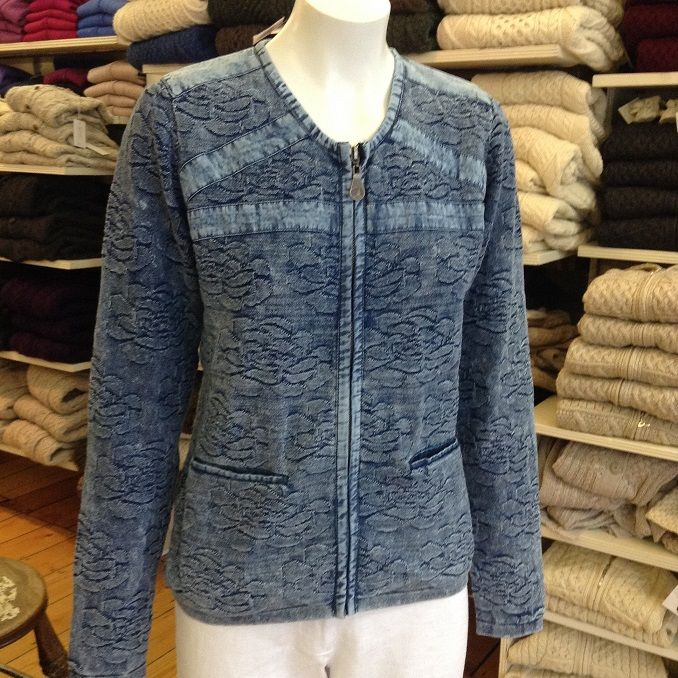 100% pure cotton zip cardigan. Like all our Danish design core products, this is machine washable. Check them out on our site.