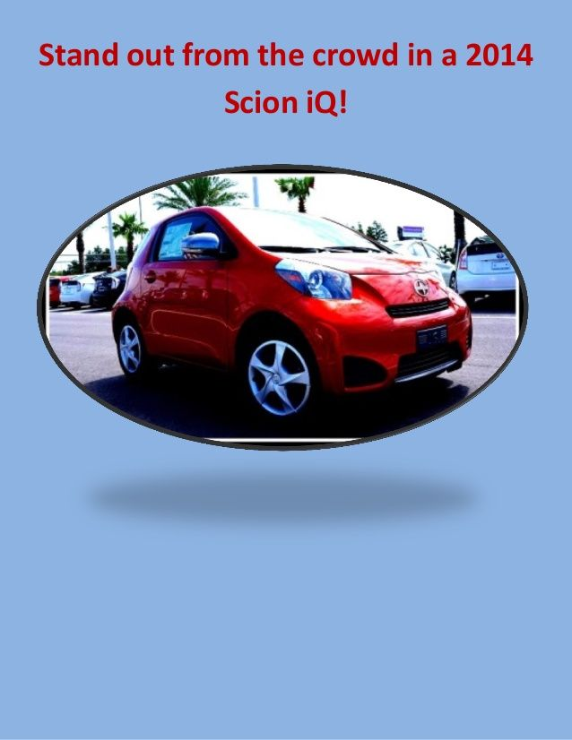 The 2014 Scion iQ is fun and fuel efficient! Zip around town in this quirky new Scion hatchback!
