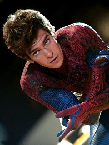 Spiderman/Peter Parker (Andrew Garfield) in The Amazing Spiderman. I gotta say Andrew Garfield is a much better choice than Tobey Maguire...the first Spidey.