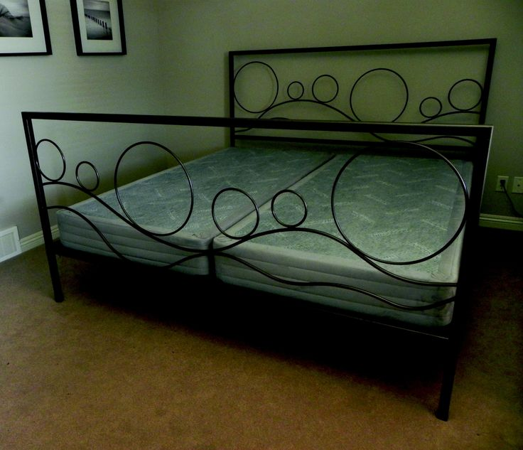 wrought iron bed rolling hills design i like this but maybe without the frame for