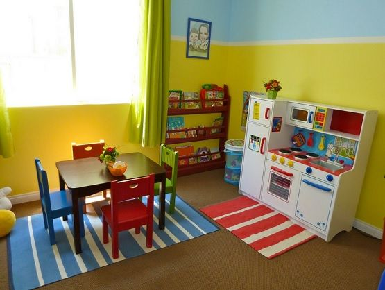 Interior Decoration Enjoyable Miniature Kitchen Cabinet Sets In White As  Well As Mini Kids Dining Table Sets On Blue Striped Carpets As Decorate In  ...