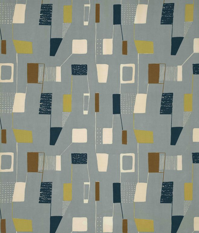 Lapis, (detail), 1953. Lucienne Day. Manufactured by Heal Fabrics. Jill A. Wiltse and H. Kirk Brown III Collection of British Textiles. O...