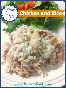 A homestyle classic: Chicken and Rice - simple, inexpensive ingredients. This recipe makes a large batch to feed a big family or crowd. Easy to follow directions with pictures from The Coers Family.
