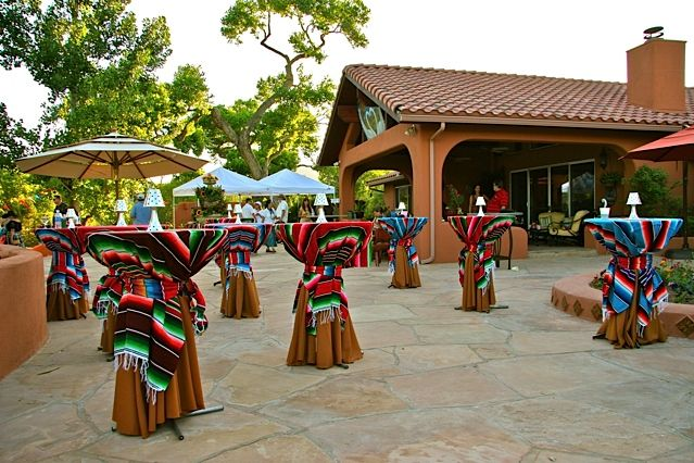 Mexican Fiesta Theme, Cocktail Tables