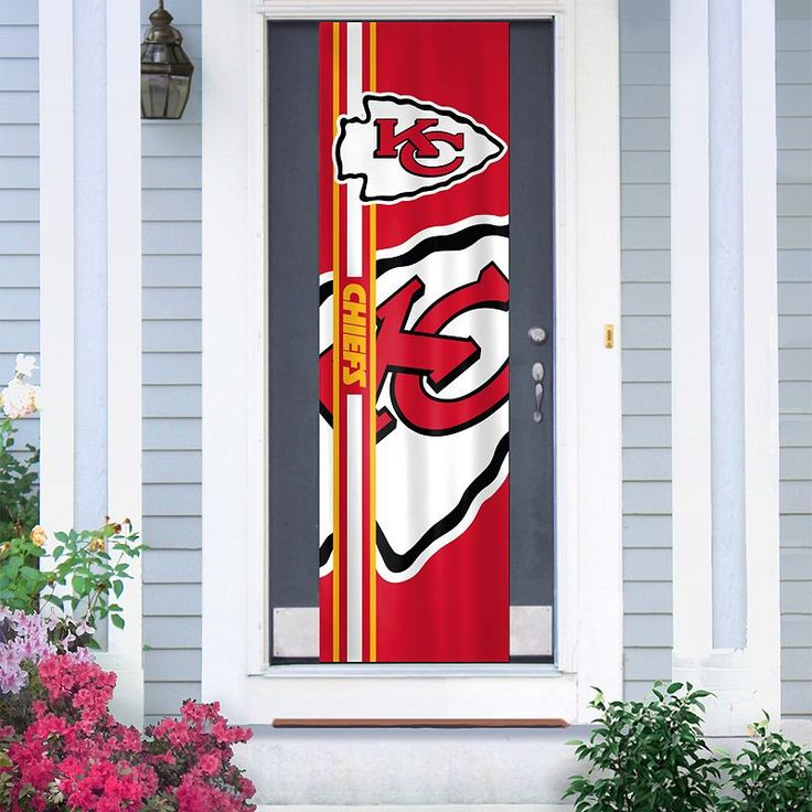 Kansas City Chiefs Two-Sided Door Wrap, Multicolor