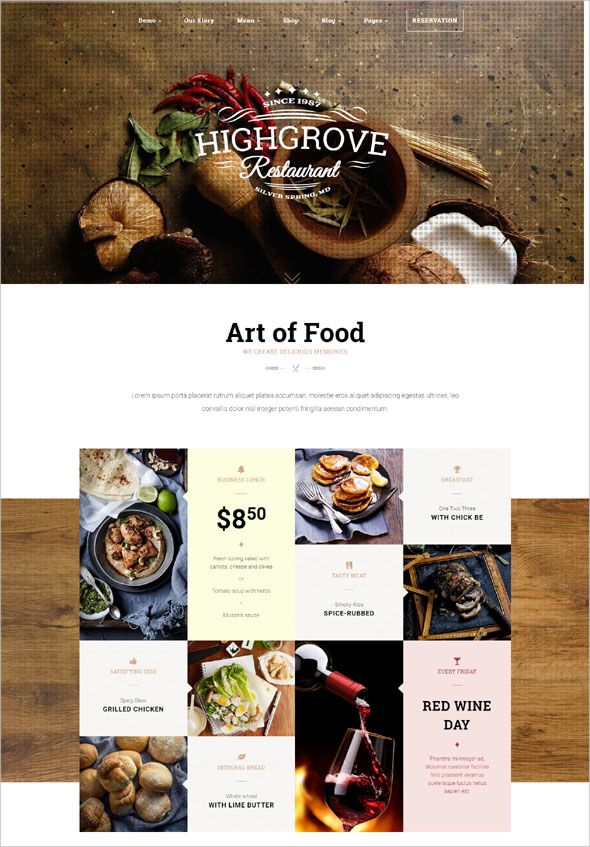 100 Restaurant Responsive WordPress Themes In 2018