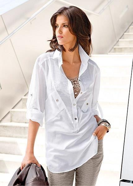Бонприкс белая блузка