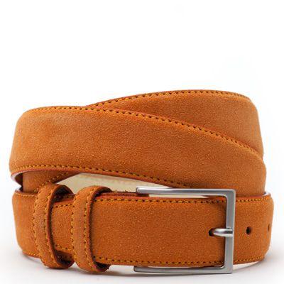 ColorMeSocks::Belt::Dutch Orange  Suede riem: Oranje