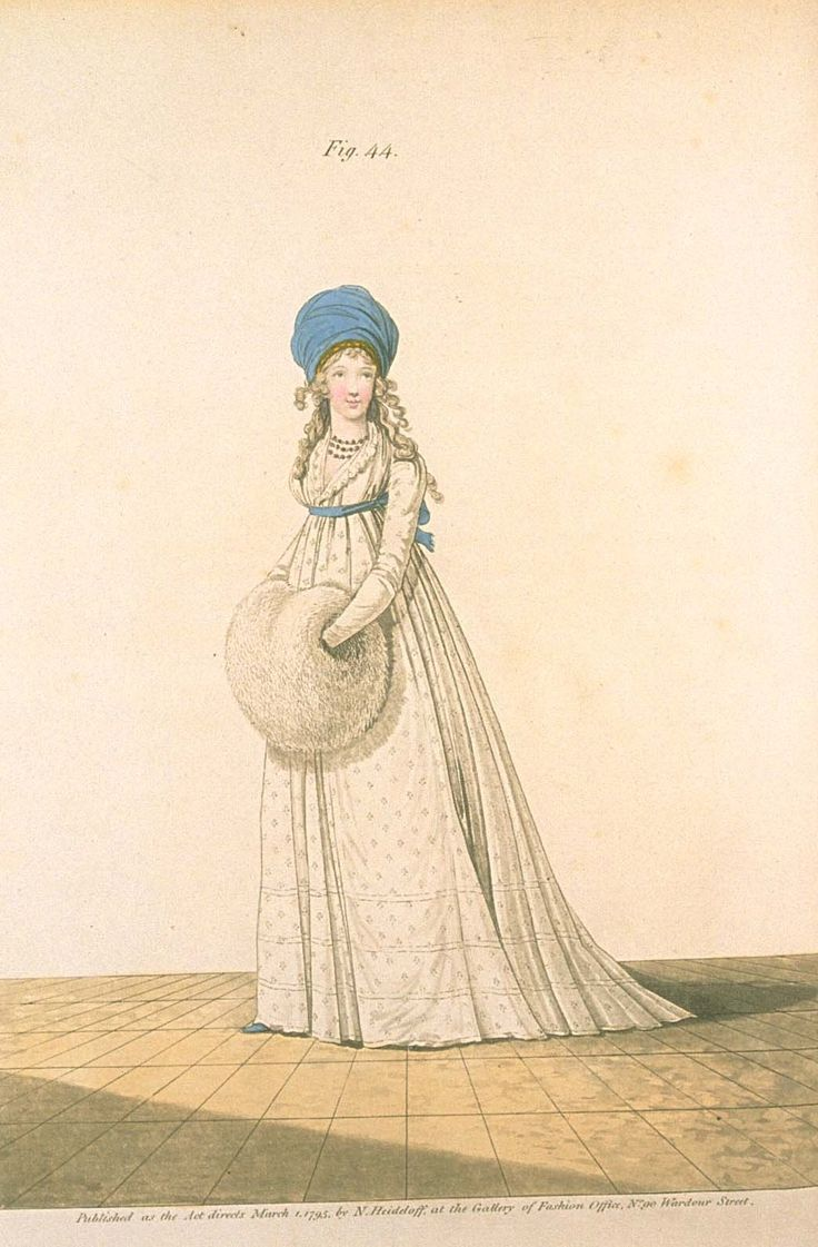 Gallery of fashion March 1795 - Evening dress