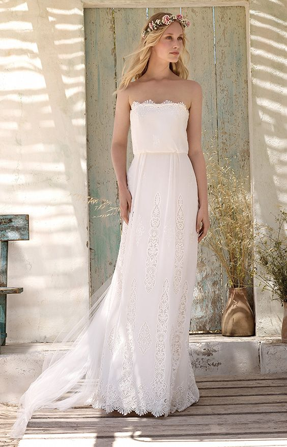 ~ Naia: Rembo Styling bridal gowns and wedding dresses #rembostyling #bohemian #bohochic #wedding #dress #newcollection