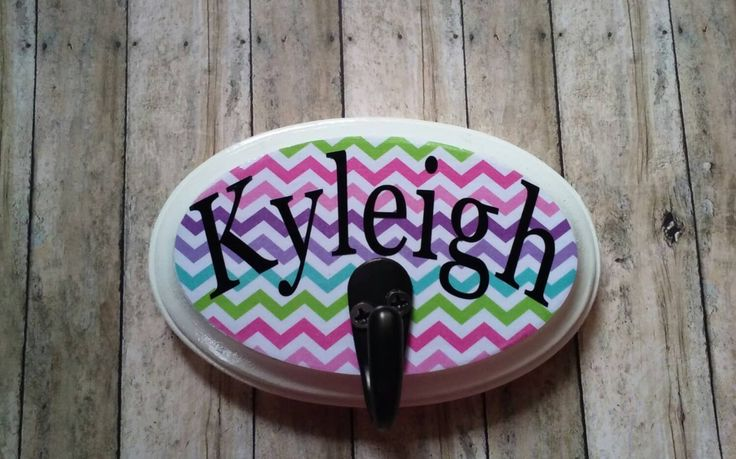 Wooden personalized backpack and coat hanger. -  Wooden personalized backpack hook. -  Personalized name plate. -  Wooden kids decor. - pinned by pin4etsy.com