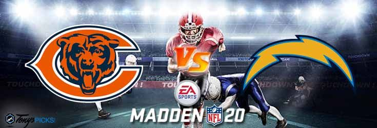 Chicago Bears Vs Los Angeles Chargers Nfl Madden 20 Sim 6 25 2020 Picks Predictions Previews In 2020 Chargers Nfl Los Angeles Chargers Nfl