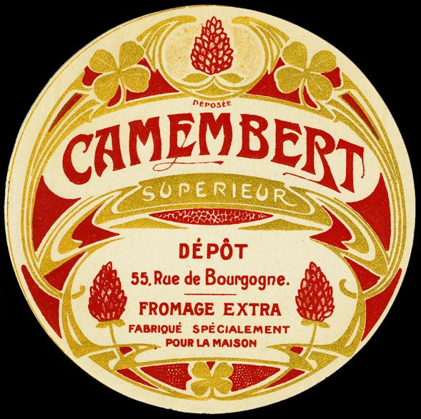 Camembert Vintage Label