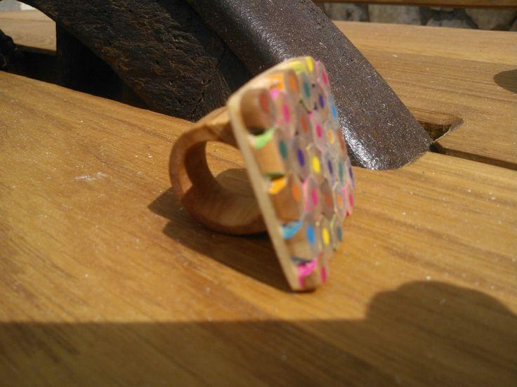 Geraldine Wood Rings - Pencil