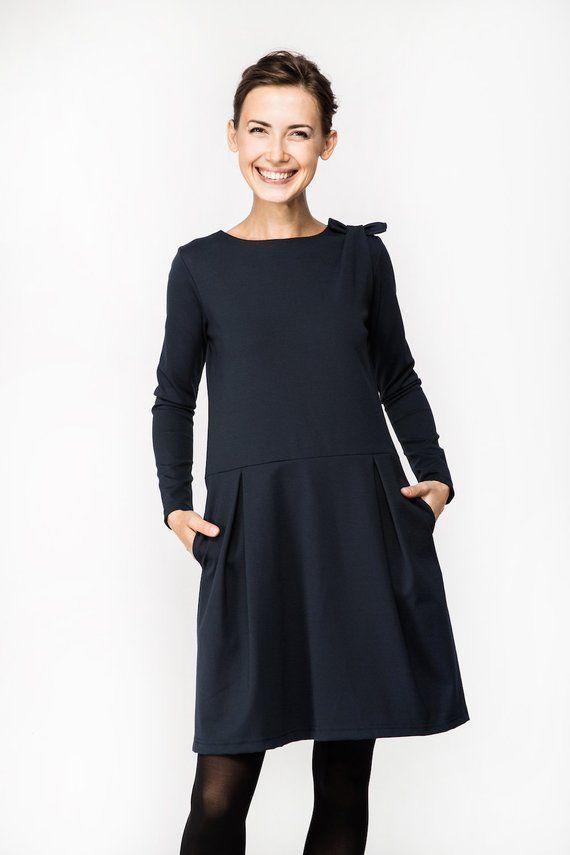 Women Dress, Midi Dress, Cute Dress, Pretty Dress, Stretchy Dress, Minimalist Clothing, Elegant Dress, Cocktail Dress, Pocket Dress, Loose
