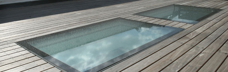 walkable #skylights designed to be installed flush with external flooring - perfect solution for flat roof terraces.