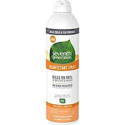 Seventh Generation Fresh Citrus Thyme Disinfectant Spray Spray