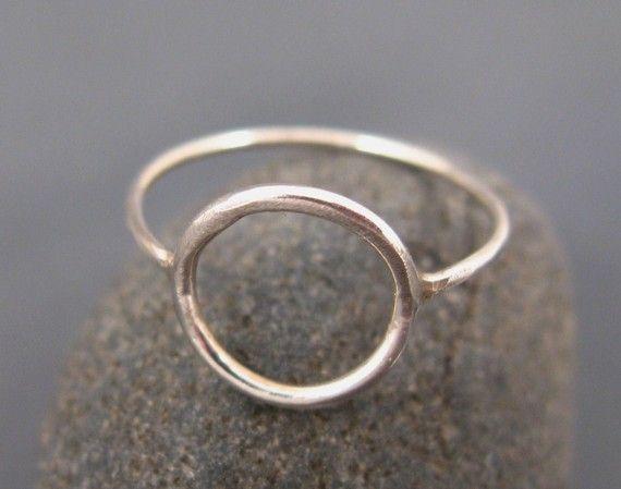 Silver circle ring eternity ring karma ring by DvoraSchleffer, $28.00