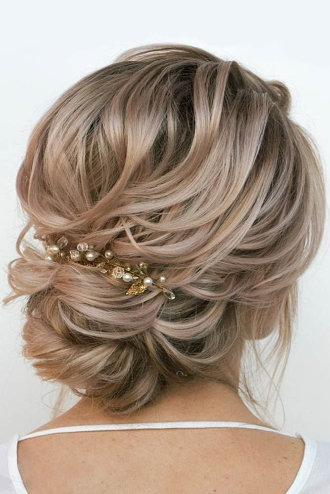 60 Creative Updo Ideas For Short Hair Short Hair Updo Short Wedding Hair Hair Styles