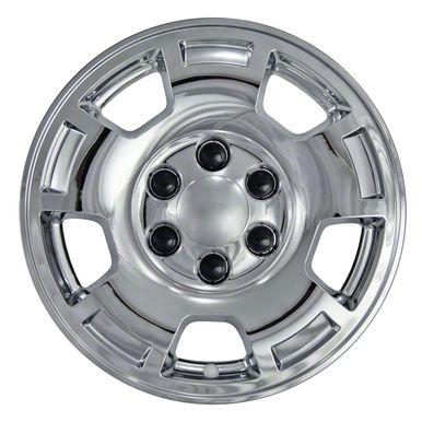 "Chevrolet Avalanche Silverado Suburban Tahoe Chrome Wheel Skins / Hubcaps / Wheel Covers 17"""" 5299 5421 2007 2008 2009 2010 2011 2012 2013 2014 SET OF 4"