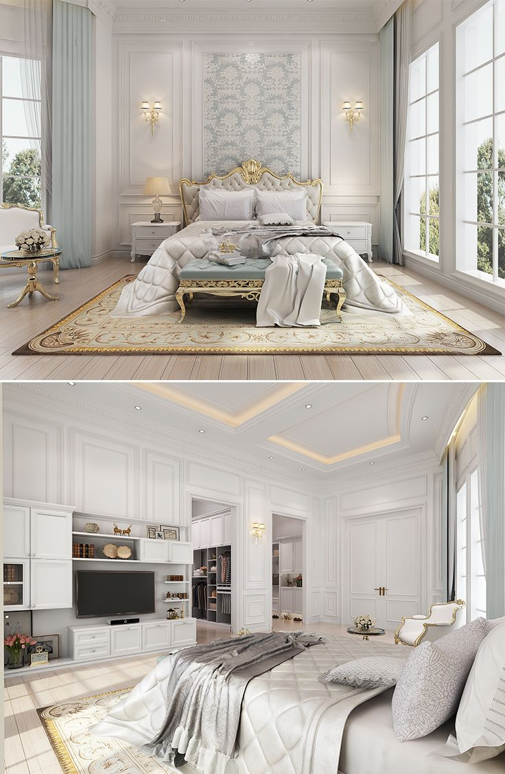 Nice #bedroom Neo Classical Style In Whole House Design