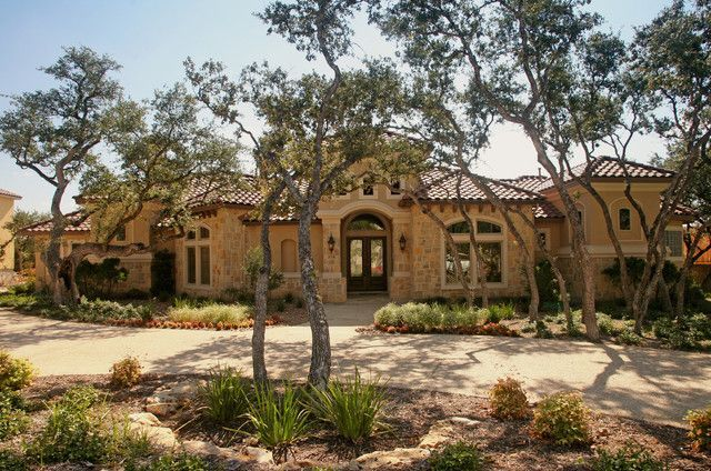 17 best images about exterior home plans on pinterest for Custom mediterranean homes