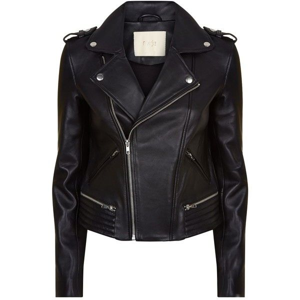 Maje Leather Biker Jacket (7.701.045 IDR) ❤ liked on Polyvore featuring outerwear, jackets, print jacket, maje jacket, biker jackets, leather jackets and asymmetrical zip jackets