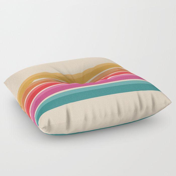 Retro Horizon #724 Throw Pillow by