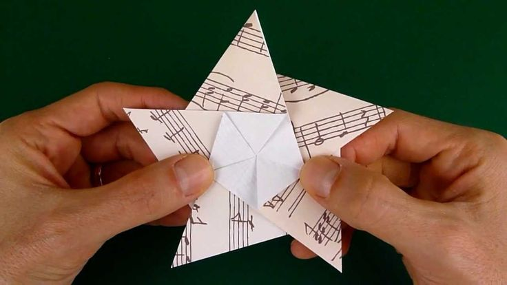 5-point origami star (this image is only part of it-see the beginning of the video to see the finished product)