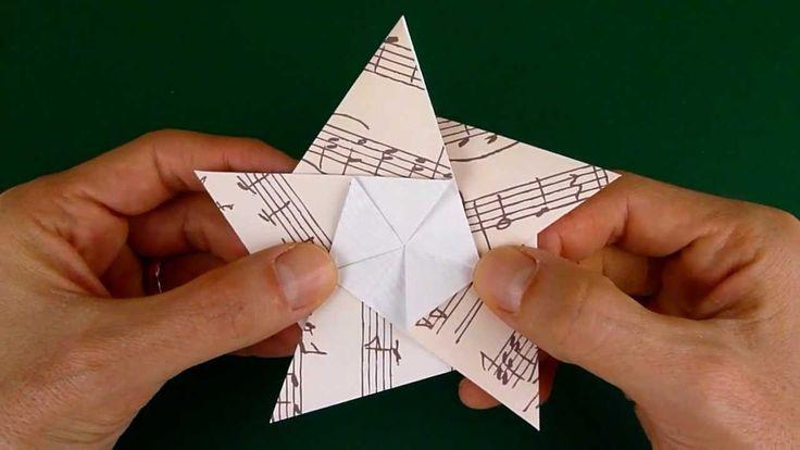 Video-Anleitung für Origami-Stern