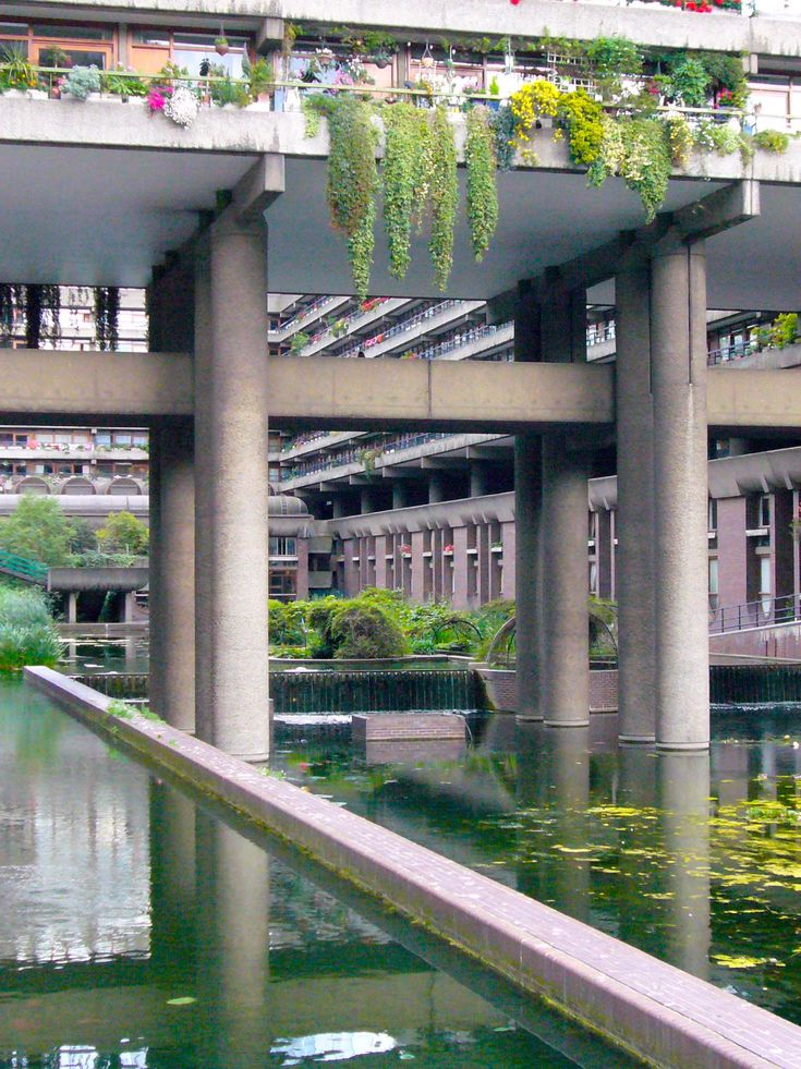 The Barbican / Quite idyllic! Have we as learned anything from the Barbican? Where my parents lived before I was born.