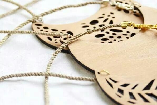 Natural wooden geometric jewelry by ursha. GEO collection. www.facebook.com/urshastylenow