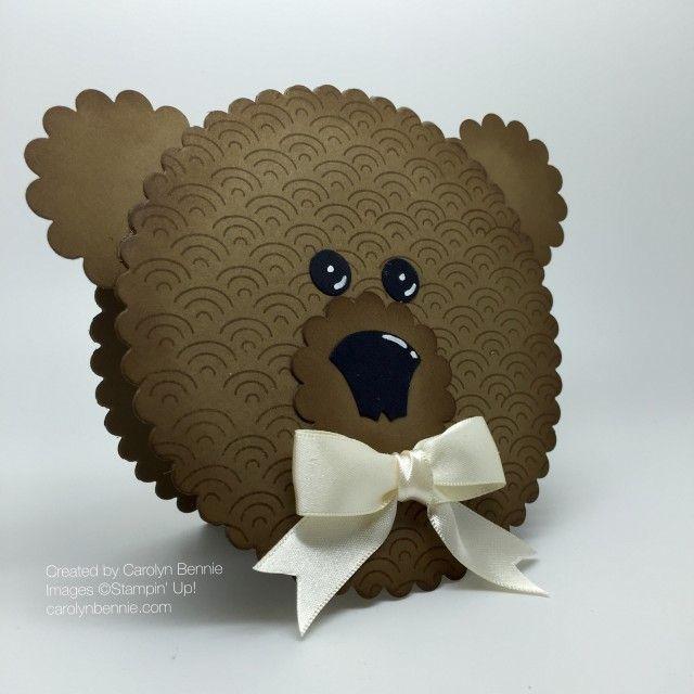 carolynbennie.com Unbearably cute Bear card  - see full details of how to make on my blog. :)