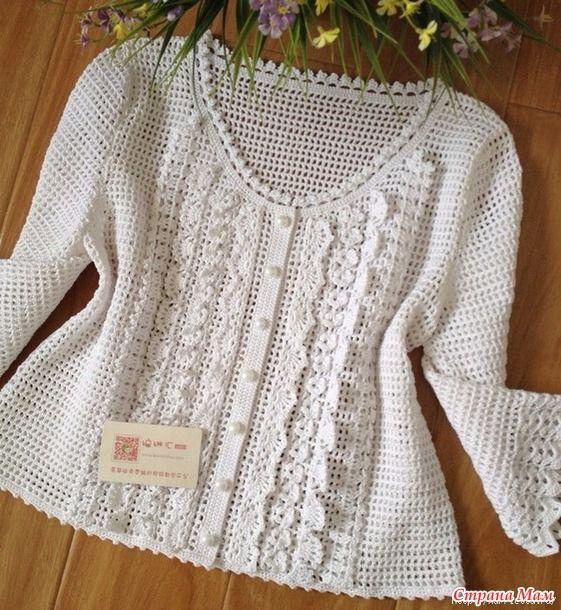 .. Blusa blanca muy delicada