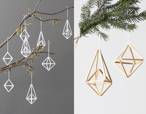 AMradio makes the coolest himmelis, which are traditional Finnish ornaments made of straw. These are made from plastic straws but you still get the geometric and modern feel of the original designs. Available in various configurations and colors on Etsy.