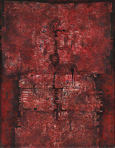 Mikuláš Medek - Coral picture (1961). #painting #Czechia #art #CzechArt